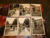 Anciennes Photographies Chasseurs et Chien de Chasse Hunting Dogs & Hunter