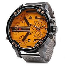 Orange Jubaoli Big Dial Mens Watch Luxury Stylish Bold Male Gift Quartz Date