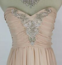 City Triangles $100 Evening Prom Formal Cruise Dress size 13 High Low Nude Gown