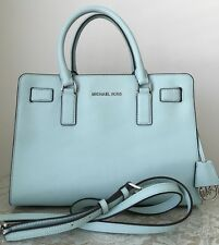 NWT MICHAEL KORS Dillon TZ EW satchel saffiano leather purse bag celadon $298