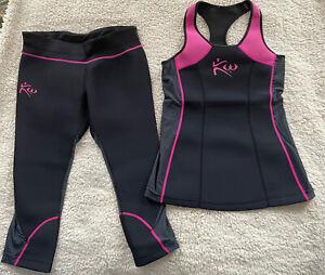 Kutting Weight Sauna Suit Sz L Weight Neoprene Weight Loss Pants & Top Black