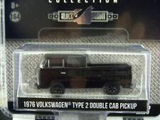 '17 GREENLIGHT 1976 VW VOLKSWAGEN TYPE 2 DOUBLE CAB PICKUP BLACK BANDIT SERIES