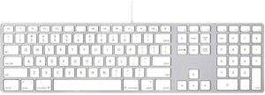 Apple Original Extended Keyboard A1243 USB Wired QWERTY Numerical Keypad
