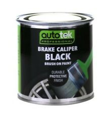 Autotek Professional Black Brake Caliper Brush On Paint 250ml Durable Finish