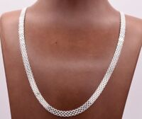 5.5mm Diamond Cut Bismark Bizmark Chain Necklace Real Sterling Silver 925 Italy