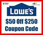 Lowes $50 Off $250 Discount Code for online orders Expire 2/28/2017 **READ AD**