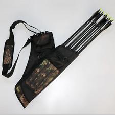 4 Tube Archery Arrow Quiver Hunting Shooting Arrow Holder Back Shoulder Bag