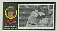 2020 Topps Heritage Minors GREATES MOMENTS BOX TOPPER ADLEY RUTSCHMAN RC Rookie
