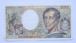 billet 200 francs Montesquieu 1992