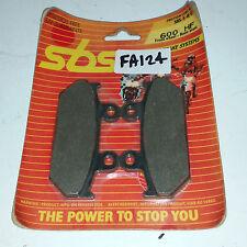 SBS BRAKE PADS 600HF HONDA RS125/250 88-89 CBR750 87-88  CBR1000 87-88 EBC FA124