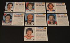 1983/84 ESSO HOCKEY STARS SCRATCH & WIN TV CASH GAME SET OF 21 CARDS UNSCRATCHED
