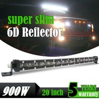 "20"" 900W LED phare de travail Singal rampe de toit barre de offroad light bar"