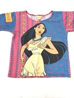 Vintage 90's Disney Pocahontas T-Shirt Youth Size Med Large Movie Great Graphic