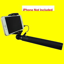 """BLACK Selfie Stick JJC SS-80 Apt to iPhone Android SMART PHONE w/ Cable 7-31.5"""""""