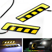 2PCS Car Auto Waterproof 12V LED COB DRL Driving Daytime Running Lamp Fog Light