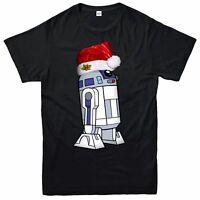 Star Wars Christmas T-Shirt, R2-D2 Robot Xmas Festive Adult & Kids Tee Top