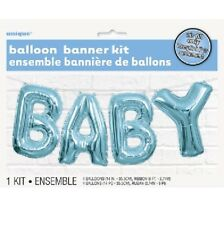Unique Party Blue Baby Shower Air Balloon Banner Bunting Decoration