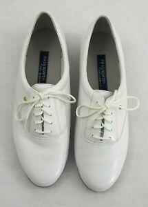 Easy Spirit Women Sz 10 Tennis Shoe Anti-Gravity Lace Up White Leather Esmotion
