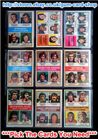 ☆ Topps 1977 Football Red Back Cards 101 to 200 (G/F) *Pick The Cards You Need*