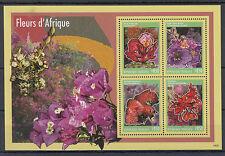 Togo 2014 neuf sans charnière fleurs de l'Afrique 4V ms Poinciana Flore Fleurs d'Afrique togolaise