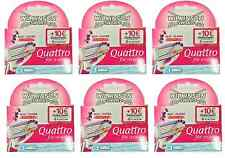 Wilkinson by Schick Quattro for Women Refill Blade Cartridges, 18 Count + Tweeze
