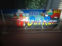 """OUTRUN Backlit 4"""" x 11"""" Marquee w/ The Arcade Light Display"""