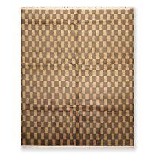 8' x 10' Hand Knotted 100% Wool Tibetan Oriental Area Rug Modern Gold Brown