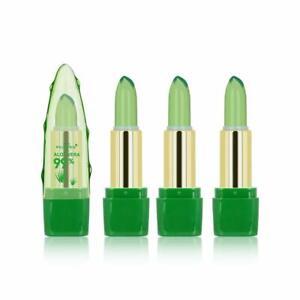 4 PCs Aloe Vera Lip Balm Moisturizing Lipstick Temperature Color Change