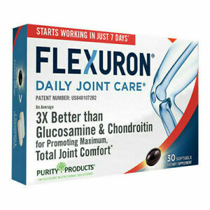 Flexuron Daily Joint Care by Purity Products 30 softgels Brand New & Fresh Krill