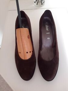 GABOR Brown Suede Court Shoes size 6.5 Excellent condition cost £75 new