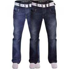 Crosshatch Indigo, Dark wash Regular Size Jeans for Men