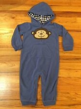 Carters Monkey Hooded Longall Outfit 24 Months