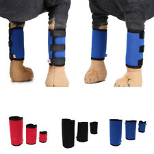 2Pcs Supportive Dog Canine Rear Front Leg Hock Joint Brace Wrap Straps Knee Pad