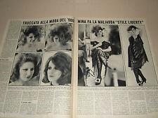 MINA MAZZINI cantante clipping ritaglio articolo foto fotografia 1965 LIBERTY