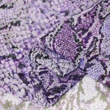 1 Yard Africa Snake Pattern Silk Fabric Gauze Chiffon Georgette For Scarf Purple