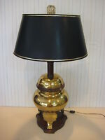 "Vintage Underwriters Laboratories Chinese Heavy Brass Urn Table Lamp, 27 1/2"" T"