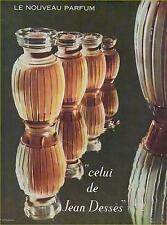 "▬► PUBLICITE ADVERTISING AD PARFUM PERFUME  ""CELUI"" JEAN DESSES de 1960"