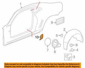 Chevrolet GM OEM 2010-2015 Camaro Quarter Panel Stone Deflector RH 20951964 NIP