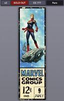 Topps Marvel Collect Digital Corner Boxes Wave 3 Captain Marvel /777