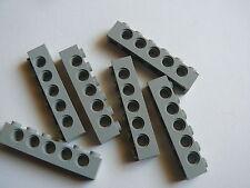 Lego 6 briques tech gris clair 9754 10030 / 6 old light gray technic brick 1 x 6