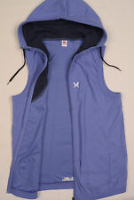 KARI TRAA NORWAY Womens vest sleeveless jacket M/L UK12 bodywarmer Hood Hoody