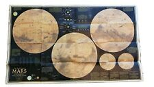 Mars the Red Planet - National Geographic Map Poster 1973 - Dust Storm 2 Sides