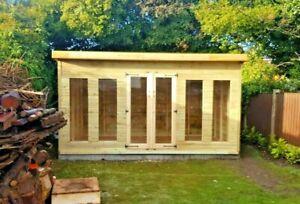 12x10ft penthouse Summerhouse tanalised shed