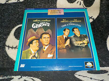 Abbott & Costello Hold That Ghost +Time of Their Lives Laserdisc LD Free Ship$30