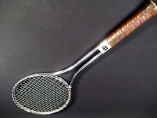 """WILSON T2000 JIMMY CONNORS STEEL TENNIS RACKET STRUNG 4-1/2"""" FREE SHIPPING"""