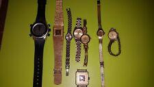 8 x montres femme homme pour réparation ou récupération de pièces