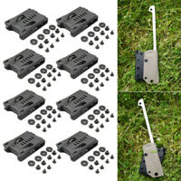 8pcs Taillengürtel Clip Clamp für K Sheath Outdoor Camping Wandern EDC Back Clip