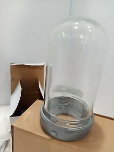 Hubbell Pendant Light, Mount Fixture. Industrial, Jelly Jar Style,  clear globe