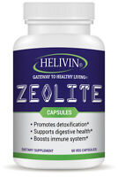 Helivin Zeolite Capsules for Detoxification – No Fillers - Veggie Capsules
