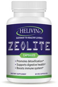 Helivin Zeolite Capsules for Detoxification – No Fillers - Veggie Capsules